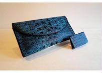 漆糸・金属糸織クラッチバッグ