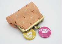 楓(kaede) がま口 財布 コインケース 2.5寸サイズ(横9.5cm ✖︎縦7.5cm)