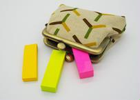 泉(Izumi) がま口 財布 コインケース 2.5寸サイズ(横9.5cm ✖︎縦7.5cm)