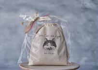 【保護猫活動支援】巾着セット「ゆきちver.」 ※2個まで