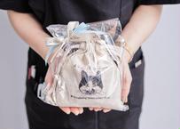 【保護猫活動支援】巾着セット「ゆきちver.」