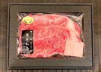 【限定4セット】         厳選田村牛ステーキ1kg     (ブレンド塩 付き)