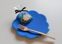 ウンリュウケーキ皿(ブルー)/東一仁