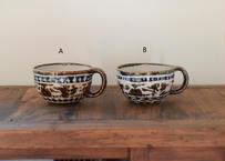 セータ柄のマグ(茶)/奥村陶房