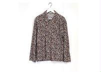 yota toki over size flower pattern corduroy shirt