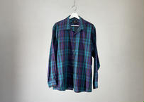 80-90s givenchy  made in italy over size check shirt
