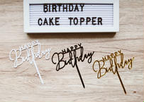 """Happy Birthday"" cake topper / 3色あり"