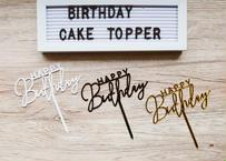 """Happy Birthday"" cake topper / 3色あり"