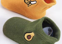 baby socks unique colors (ベビー靴下/アボカド&バナナ柄) 2足組
