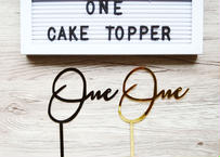 """One"" cake topper / 1才のお誕生日用ケーキトッパー"