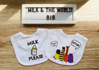 MILK & THE WORLD baby bib 2 sets (2枚セット)