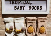 TROPICAL baby socks (2pcs) / トロピカルベビー靴下2足組