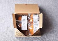 【ギフトBOX】広島レモンのマドレーヌ&黒糖のジンジャーブレッドMIX(6個入り)