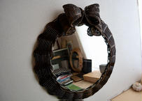 ribbon mirror (large size)    dark brown