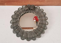 ribbon  mirror (medium size) gray