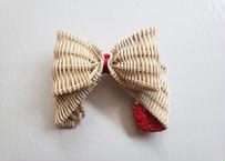 ribbon  broach        / red
