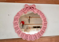 ribbon mirror  (large size)[pink]B