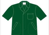 男性用半袖衿付調理衣 品番HO312FA312(P-8グリーン)