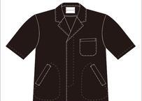 男性用半袖衿付調理衣 品番HO312FA312(P-14ブラック)