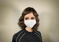 MA003 白 二層立体型マスク綿100% 10枚入り