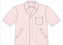 男性用半袖衿付調理衣 品番HO312FA312(P-9ピンク)