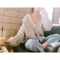 Handmade綿100%ルーズカーディガン