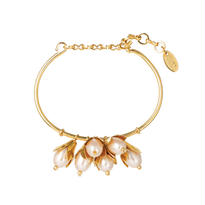 LILY OF VALLEY fringe bangle