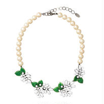 LILA pearl short necklace