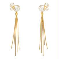 【予約購入】BASIC 2way pearl fringe pierce