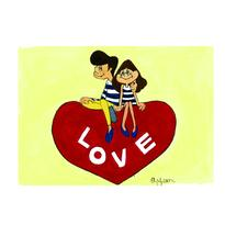 017 LOVE  postcard