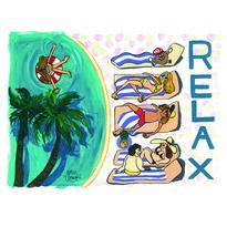 003 RELAX postcard