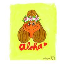 023 alohagirl postcard