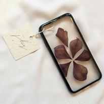 フローラル i phone 6/6S case  (ブラック)⑧