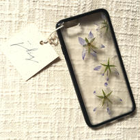 フローラル i phone 6/6S case(ブラック)⑫