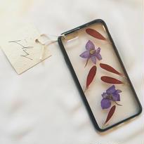 フローラル i phone 6/6S case(ブラック)⑪