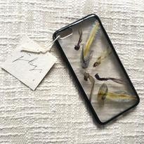 フローラル i phone 6/6S case(ブラック)⑩