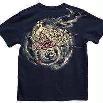 【手描きTシャツ】龍2 黒 コットン生地