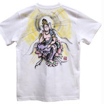 【手描きTシャツ】弥勒菩薩  白  彩色 綿生地