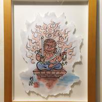 【手描きアート 原画】赤不動