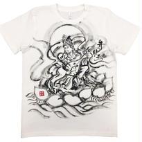 【手描きTシャツ】七福神 弁財天 白