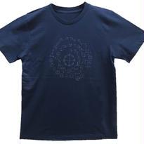 【Tシャツ】カタカムナ コットン生地 紺 テラヘルツインク100%