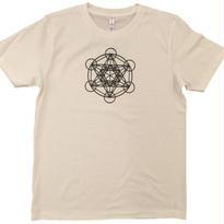【Tシャツ】フルーツ・オブ・ライフ5 コットン生地 麻炭インク100%