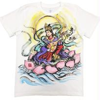 【手描きTシャツ】七福神 弁財天 彩色