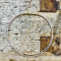 ナチュラルカラー革紐2連ネックレス