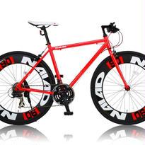 CANOVER(カノーバー) 700×28C アルミフレーム クロスバイク シマノ21段変速ラピッドファイヤー 極太90mmディープリム LEDライト標準装備 CAC-023 NAIAD(ナイアード)