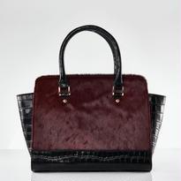 Croco Handbag / Rose Winered Color