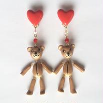 HEART & TEDDYBEAR イヤリング