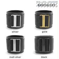 BUCKLE & BELT punching leather bracelet