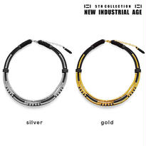 LAYERED TUBE leather necklace