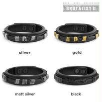 METAL BITS leather bracelet